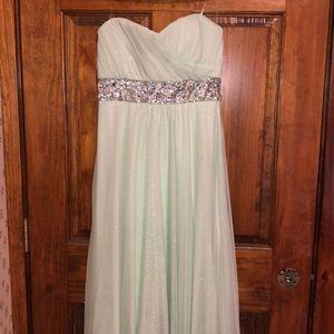 Pastel green sparkly Prom Dress